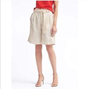 Banana Republic Avory 10.5 Tie Shorts Size 4
